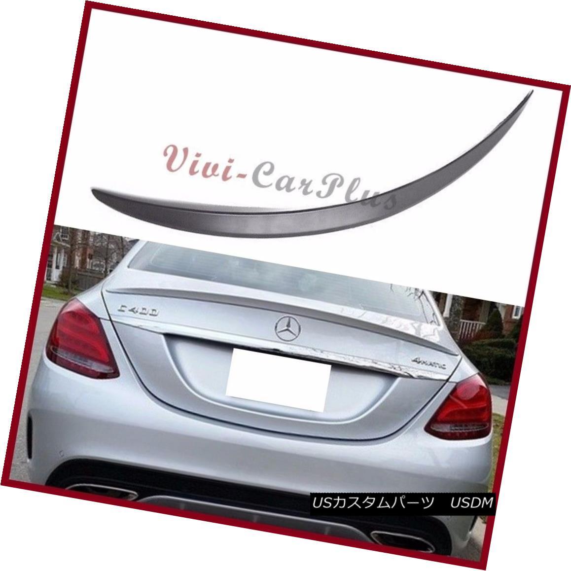 エアロパーツ UNPAINTED A Type Trunk Lip Spoiler Fit 15 16 BENZ W205 Sedan C200 C300 C350 C400 UNPAINTED Aタイプトランクリップスポイラーフィット15 16 BENZ W205 Sedan C200 C300 C350 C400