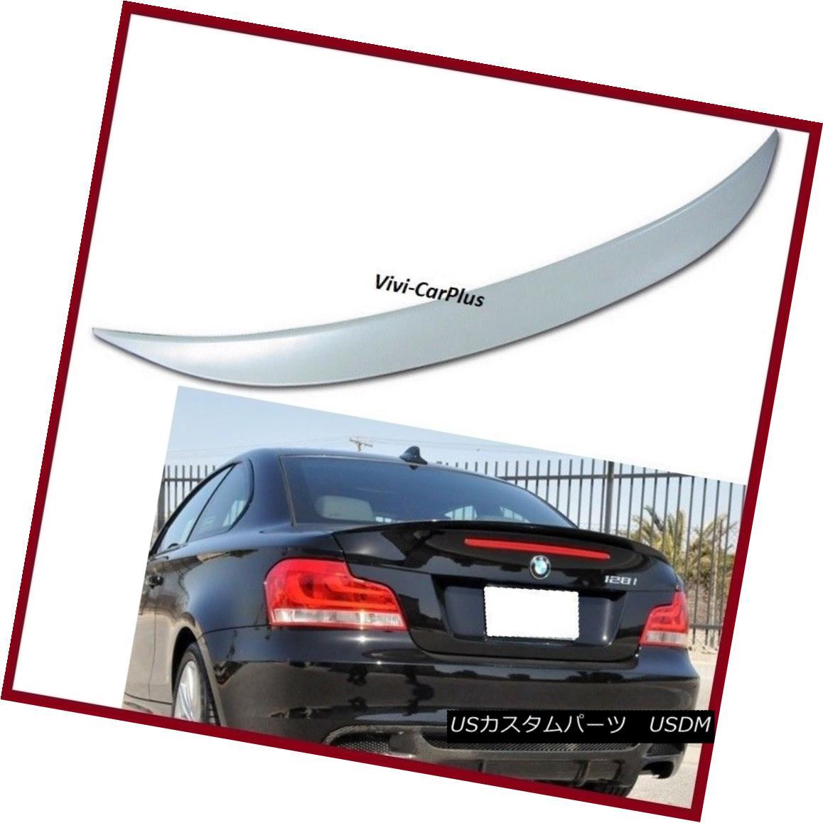 エアロパーツ UNPAINTED 07-13 BMW E82 Coupe 2D 120i 128i 135i 1M P Type Trunk Spoiler Wing Lip UNPAINTED 07-13 BMW E82クーペ2D 120i 128i 135i 1M Pタイプトランクスポイラーウイングリップ