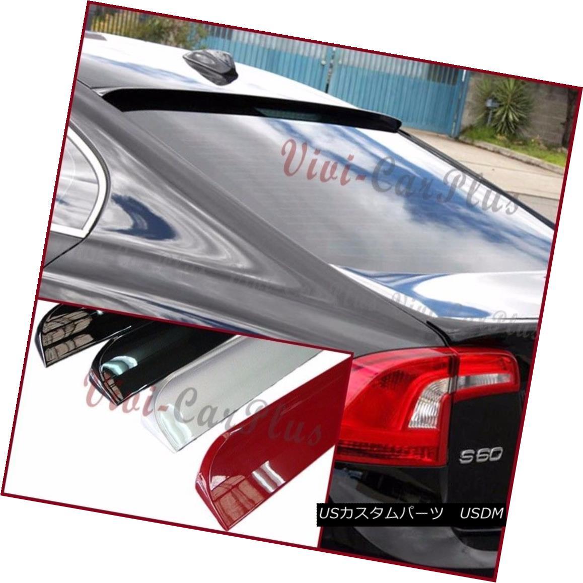 エアロパーツ Painted B Type PU Roof Spoiler For 11-15 VOLVO S60 T5 T6 Sedan Rear Visor Wing 11-15 VOLVO S60 T5 T6セダンリアバイザーウイング用ペイントBタイプPUルーフスポイラー