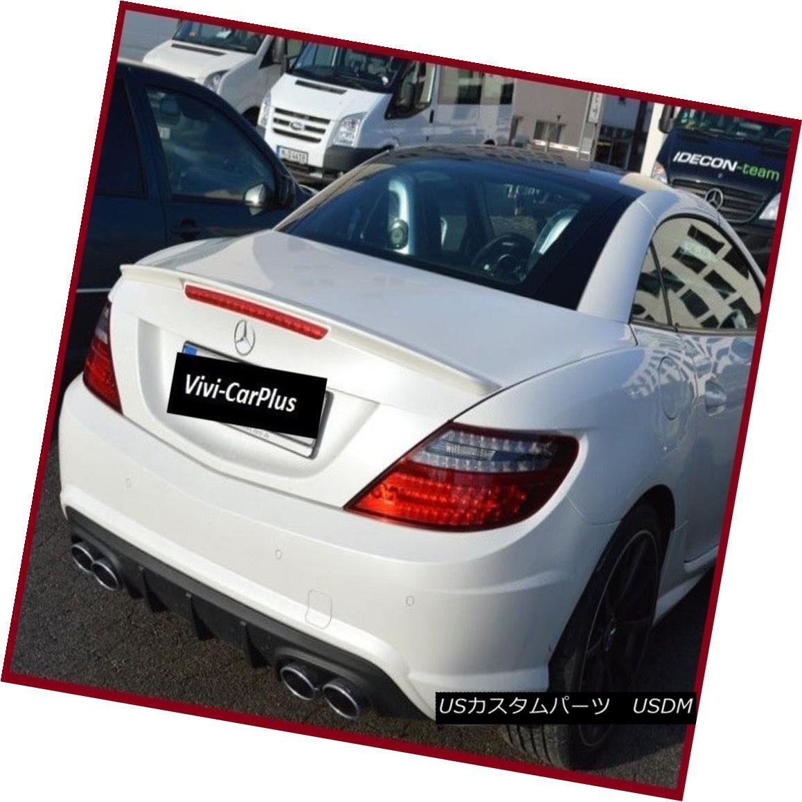 エアロパーツ UNPAINTED 11-15 M-Benz R172 SLK Class SLK300 SLK350 SLK55 AMG Type Trunk Spoiler UNPAINTED 11-15 M-Benz R172 SLKクラスSLK300 SLK350 SLK55 AMGタイプトランク・スポイラー