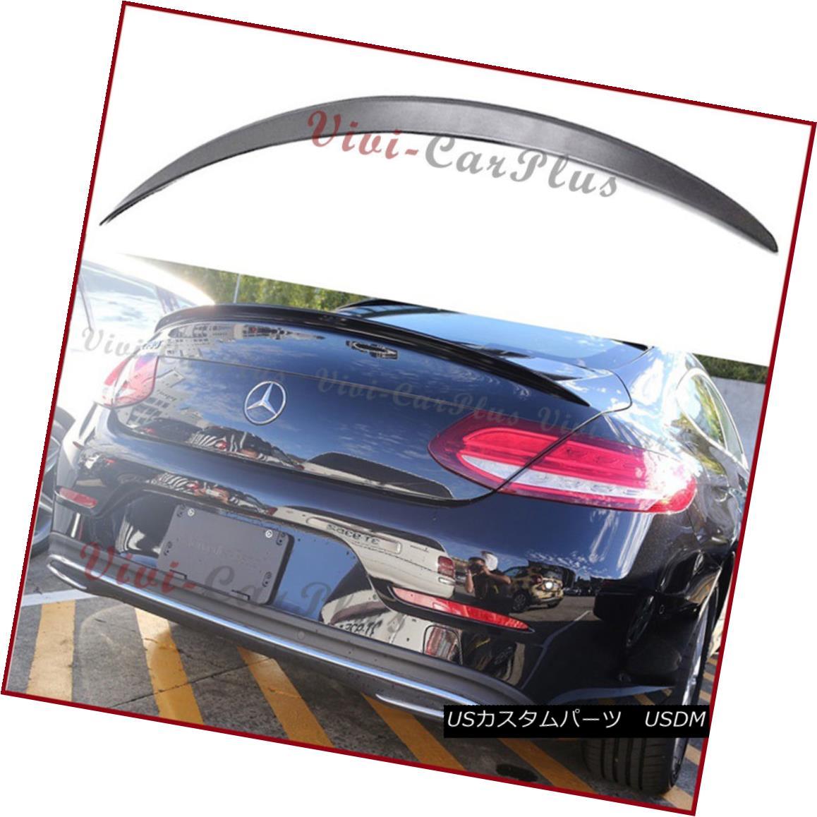 エアロパーツ UNPAINTED 2016+ Benz C205 C-Coupe C250 C350 C63 A Look Trunk Spoiler Add-On Tail UNPAINTED 2016+ベンツC205 CクーペC250 C350 C63ルック・トランク・スポイラー・アドオン・テール