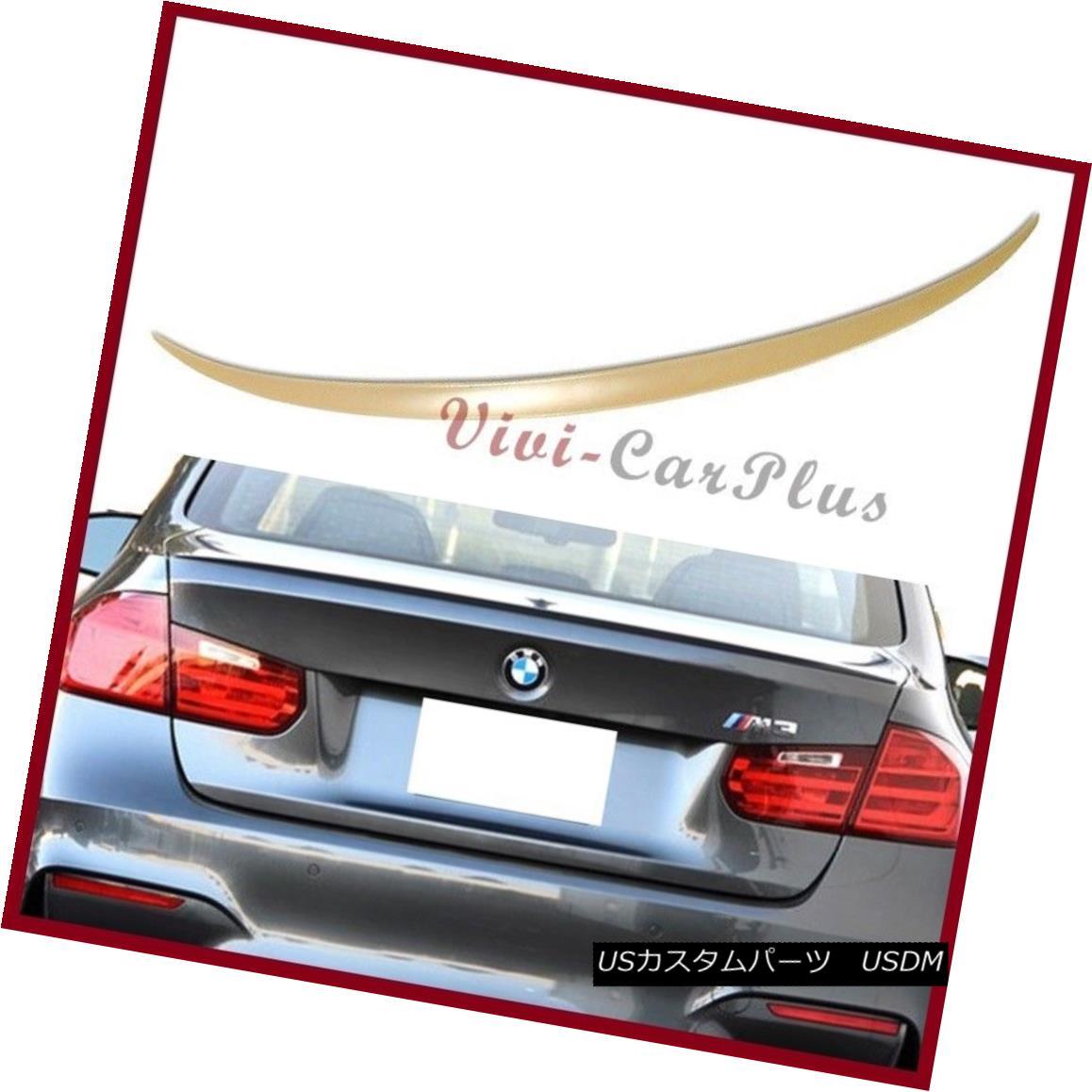 エアロパーツ UNPAINTED 2015-2016 BMW F80 M3 Sedan 4D M3 Look Wing Trunk Rear Spoiler Tail Lip UNPAINTED 2015-2016 BMW F80 M3セダン4D M3ルックウィングトランクリアスポイラーテールリップ
