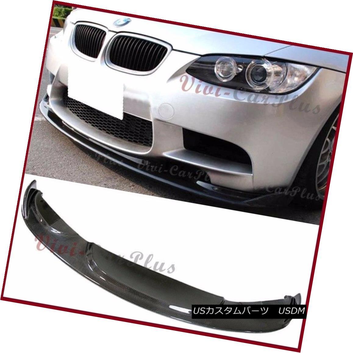 Fit For 2008-13 BMW E90 E92 E93 M3 Bumper V Look 3K Carbon Fiber Front Lower Lip