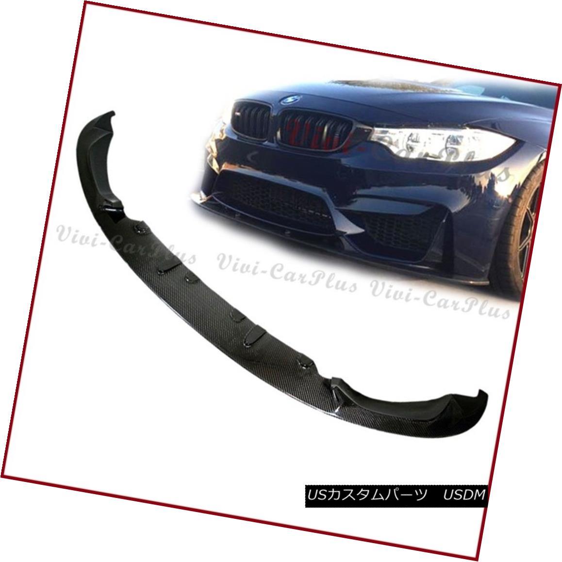 エアロパーツ Carbon Fiber 3D Type Front Spoiler Add Lip Fit 2015+ F80 M3 F82 M4 Front Bumper カーボンファイバー3Dタイプフロントスポイラー追加リップフィット2015+ F80 M3 F82 M4フロントバンパー