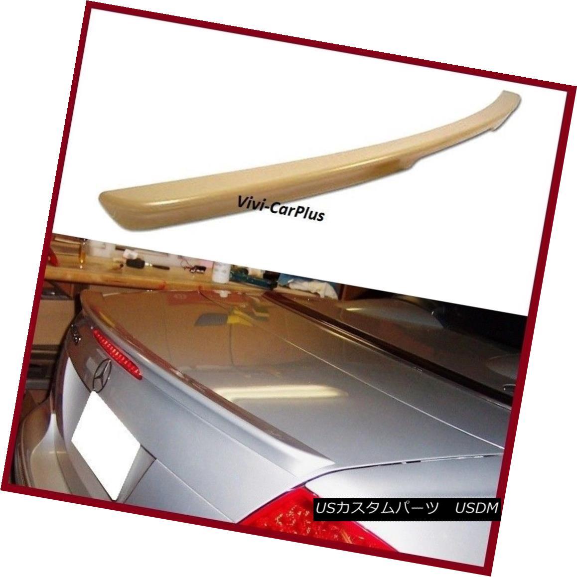 エアロパーツ UNPAINTED 04-08 M-BENZ W209 CLK350 CLK550 CLK55 Coupe AMG Type Trunk Spoiler Lip UNPAINTED 04-08 M-BENZ W209 CLK350 CLK550 CLK55クーペAMGタイプトランク・スポイラー・リップ
