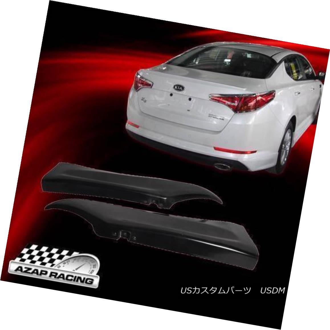 エアロパーツ 2010-2012 Black DS Style PU Polyurethane Rear Bumper Lip Spoiler Fits Kia Optima 2010-2012ブラックDSスタイルPUポリウレタンリアバンパーリップスポイラーフィットキアオプティマ