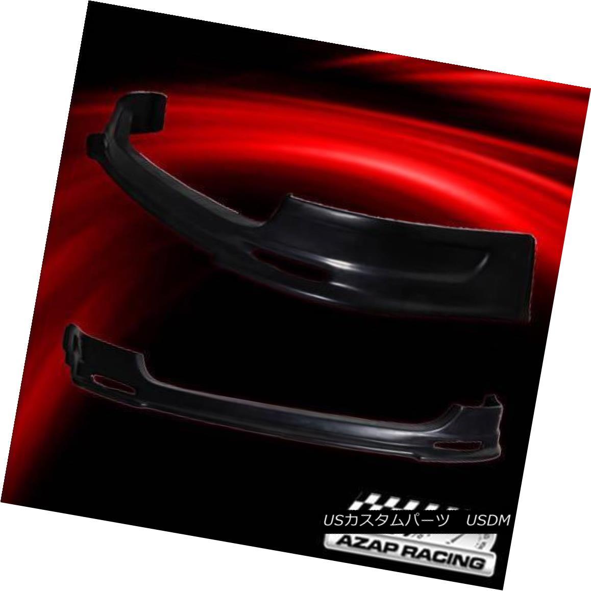 エアロパーツ 03-05 Mug PU Black Front Bumper Lip Spoiler Fits Honda Civic Si 3Dr Hatchback 03-05マグカップブラックフロントバンパーリップスポイラー、ホンダシビックシ3Drハッチバックにフィット