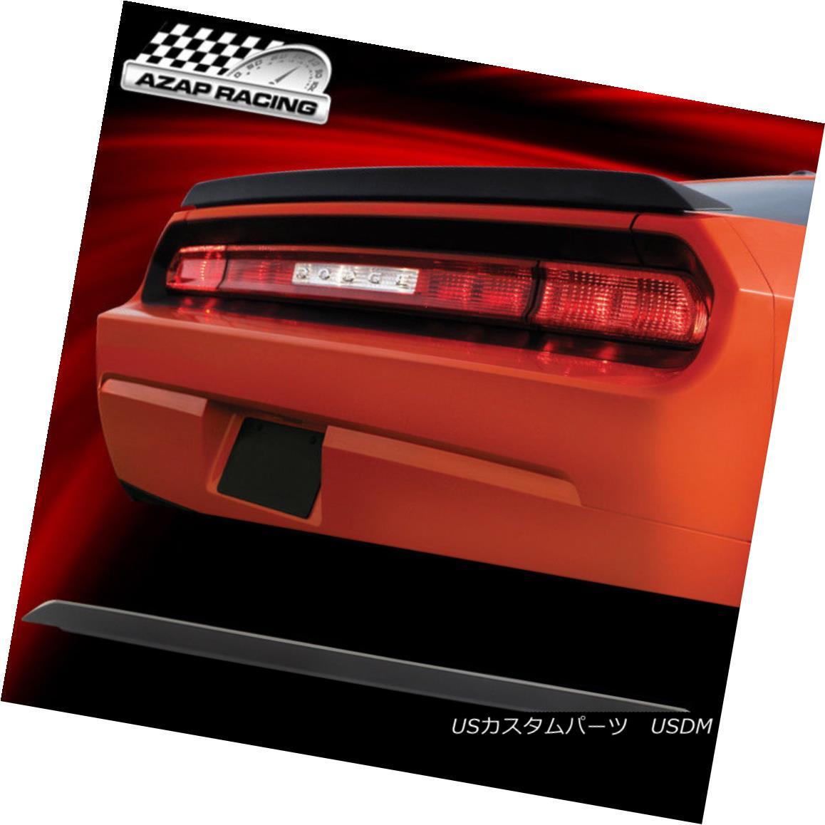 エアロパーツ 08-14 Matte black Rear Trunk Spoiler ABS Bodykit Fits Dodge Challenger Coupe 2Dr 08-14マットブラック・リア・トランク・スポイラーABSボディキットがドッジ・チャレンジャー・クーペ2Drに適合
