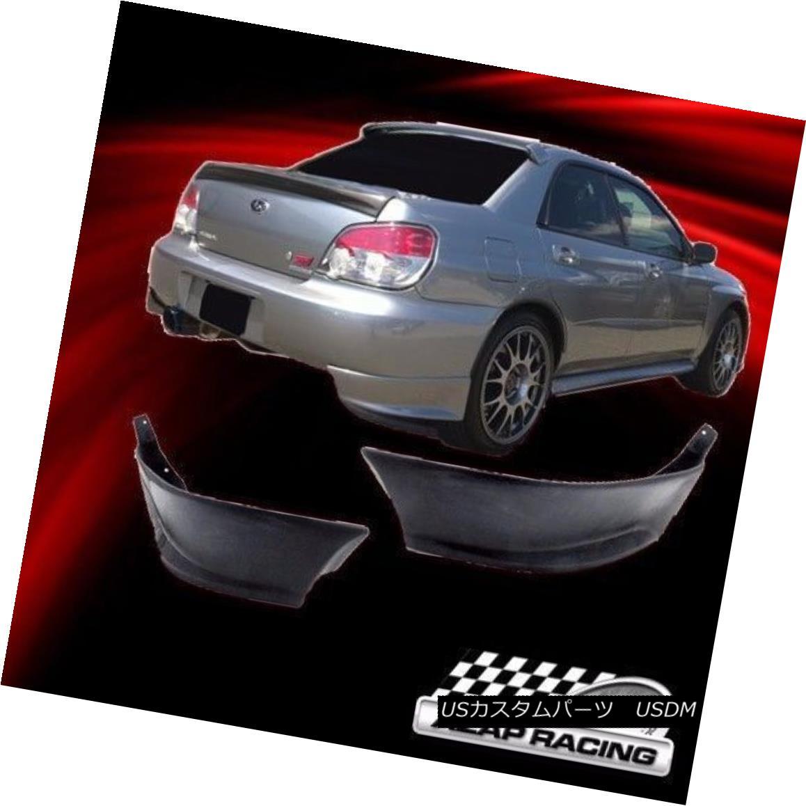 エアロパーツ 2002-2007 Urethane Rear Bumper Lip Spoiler Splitter 2Pcs Fits Subaru Impreza Wrx 2002-2007ウレタンリヤバンパーリップスポイラースプリッター2個入りSubaru Impreza Wrx
