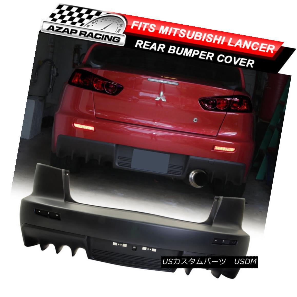 エアロパーツ 08-15 EVO PP Rear Bumper Cover Single Outlet Exhaust Kit Fits Mitsubishi Lancer 08~15 EVO PPリアバンパカバーシングルアウトレットエキゾーストキットは三菱ランサーに適合