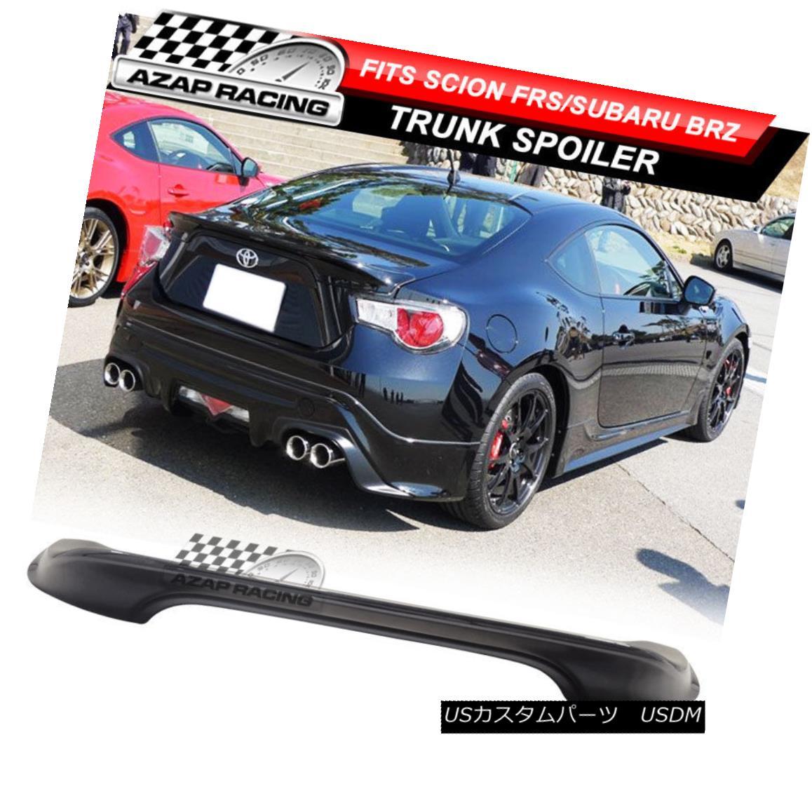 エアロパーツ 13-16 Painted Dark Gray ABS TR Rear Trunk Spoiler Wing Fits Scion FRS Subaru BRZ 13-16塗装ダークグレーABS TRリアタンクスポイラーウイングはサイオンFRSスバルBRZにフィット