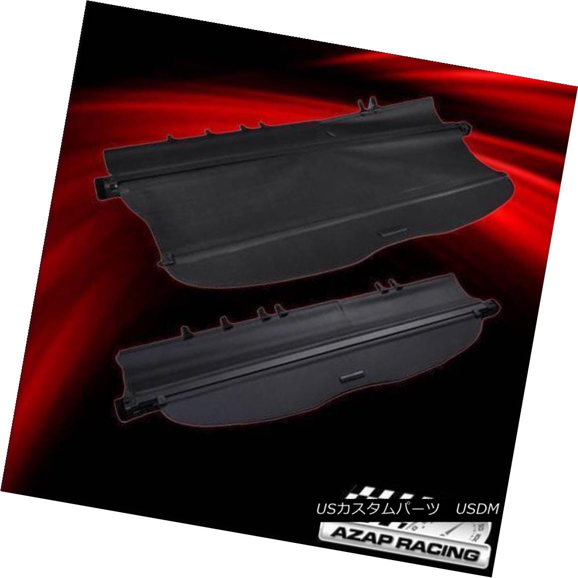 エアロパーツ 08-12 OE Factory Black Rear Cargo Secutiry Trunk Cover Fits Toyota Highlander 08-12 OEファクトリーBlack Rear CargoセキュリティトランクカバーはToyota Highlanderに適合