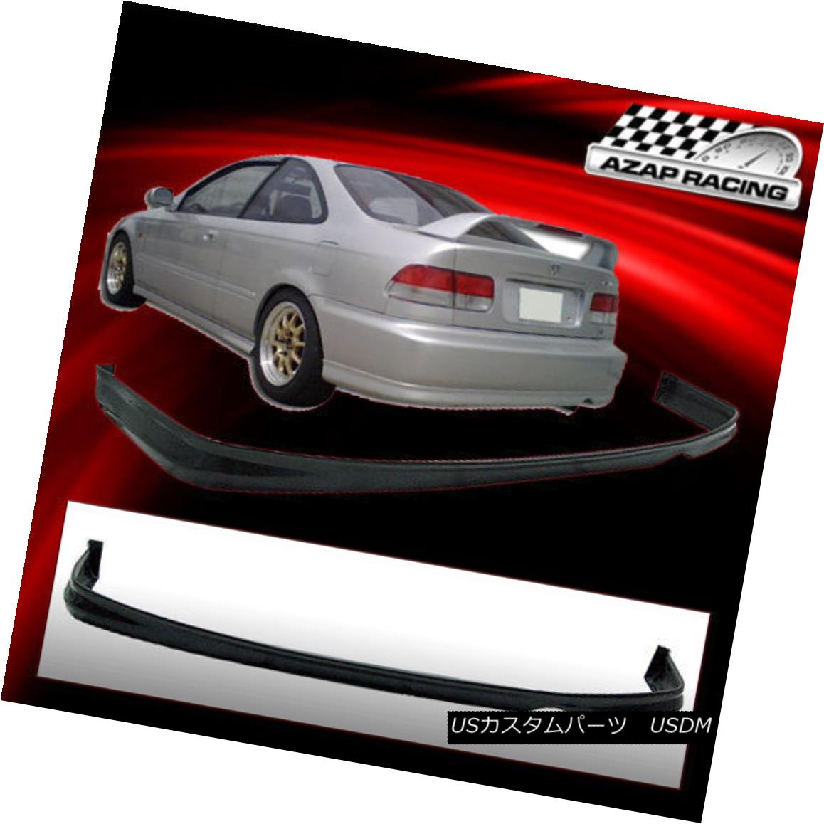 エアロパーツ 1992 93 94 95 Urethane Rear Bumper Lip Spoiler Bodykit Fits Honda Civic 2/4Dr 1992 93 94 95ウレタンリヤバンパーリップスポイラーボディキット適合ホンダシビック2 / 4Dr