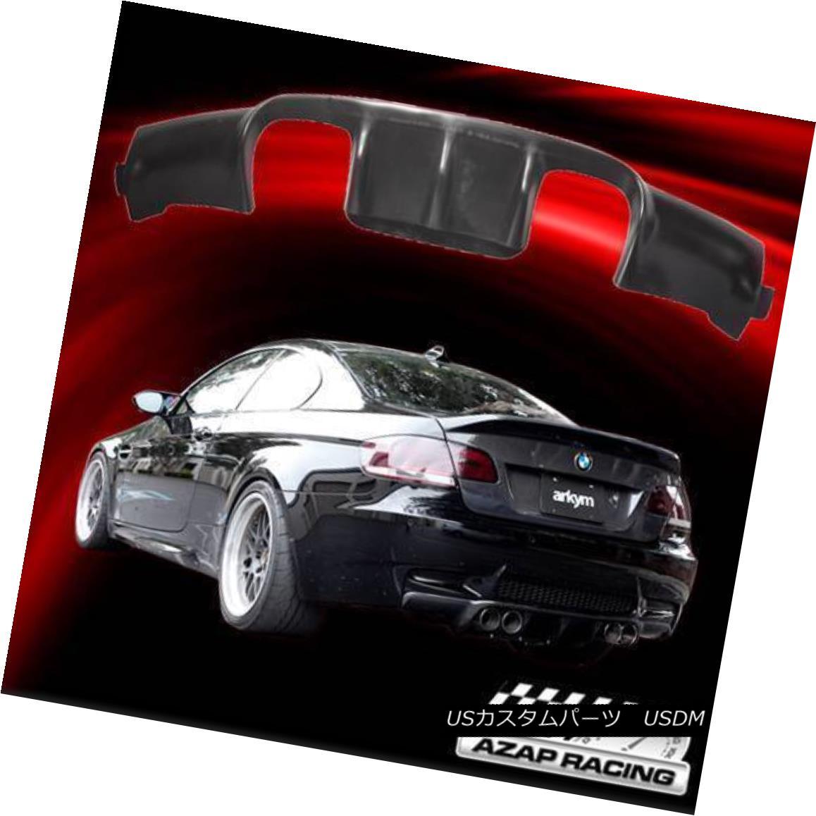 エアロパーツ 2008-2012 Black V-Style PU Urethane Rear Bumper Lip Spoiler Bodykit Fits BMW M3 2008-2012ブラックV型PUウレタンリヤバンパーリップスポイラーボディキットはBMW M3に適合