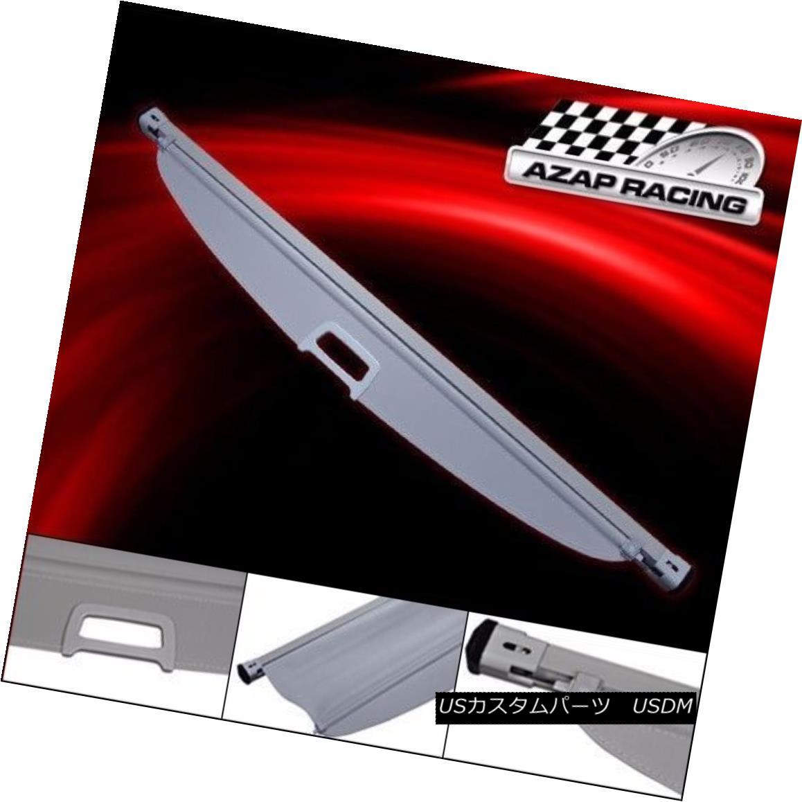 エアロパーツ Fits 11-13 Kia Sorento 4Dr OE Style Retractable Rear Cargo Grey Security Cover 11-13 Kia Sorento 4Dr OEスタイルのリトラクタブルリアカーゴグレーセキュリティカバーにフィット