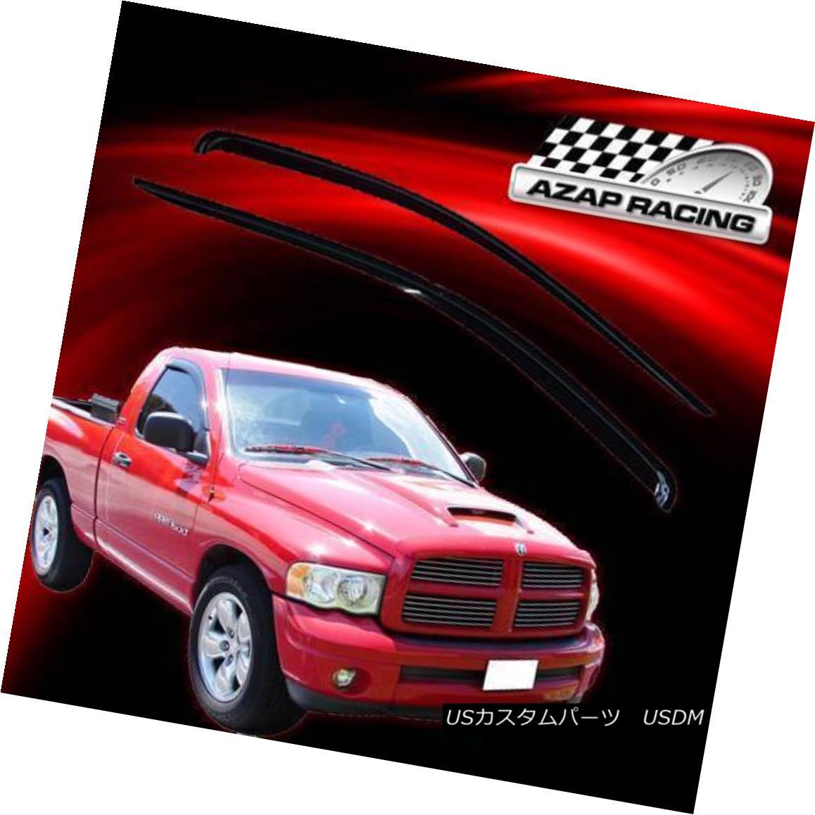 エアロパーツ Fits 02-09 Dodge Ram Regular Cab Slim Acrylic Window Visors 2Pc フィット02-09ダッジラムレギュラーキャブスリムアクリルウィンドウバイザー2Pc