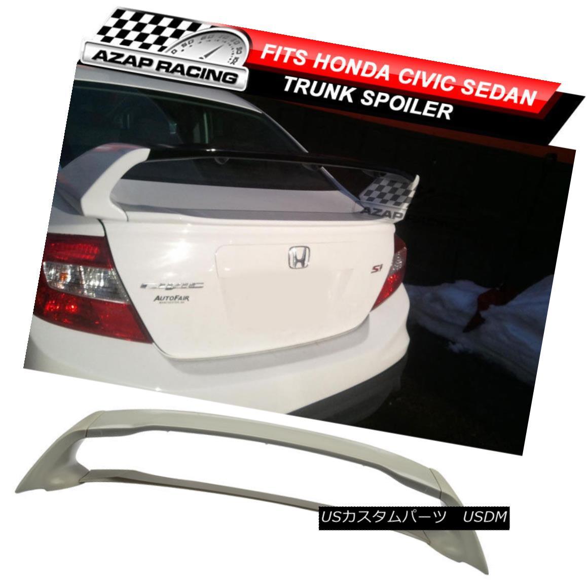 エアロパーツ 12-15 MUG Style Rear Trunk Lip Spoiler Wing ABS Bodykit 4Pcs Fit Honda Civic 4Dr 12-15 MUGスタイルリアトランクリップスポイラーウイングABSボディキット4本適合ホンダシビック4Dr