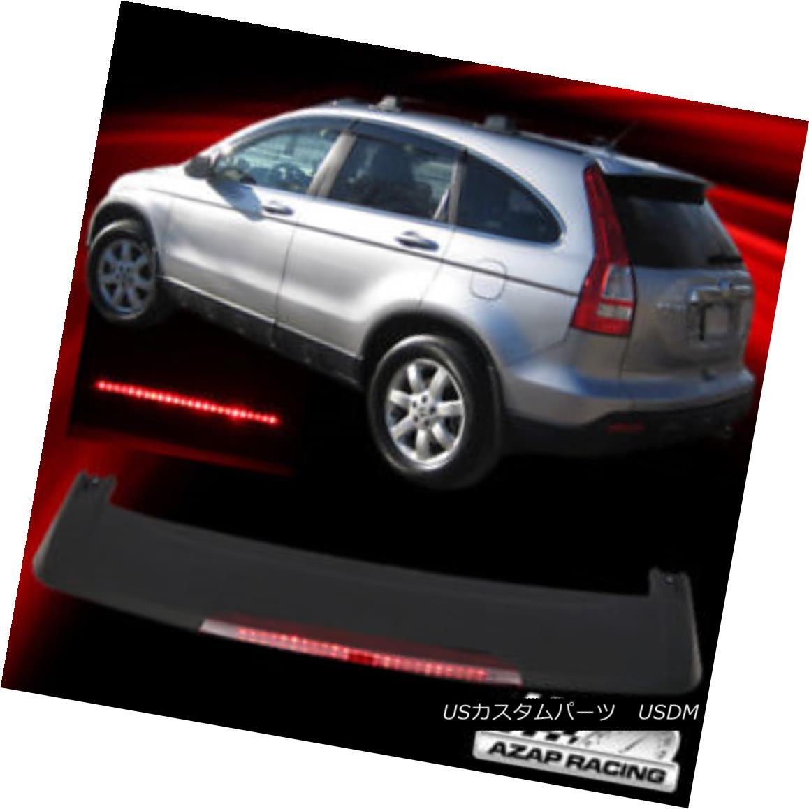 エアロパーツ 07-11 ABS Matte Black Rear Trunk Spoiler Wing With LED brake lamp Fits Honda CRV 07-11 ABSマットブラックリアタンクスポイラーウィングLEDブレーキランプ付きホンダCRVに適合
