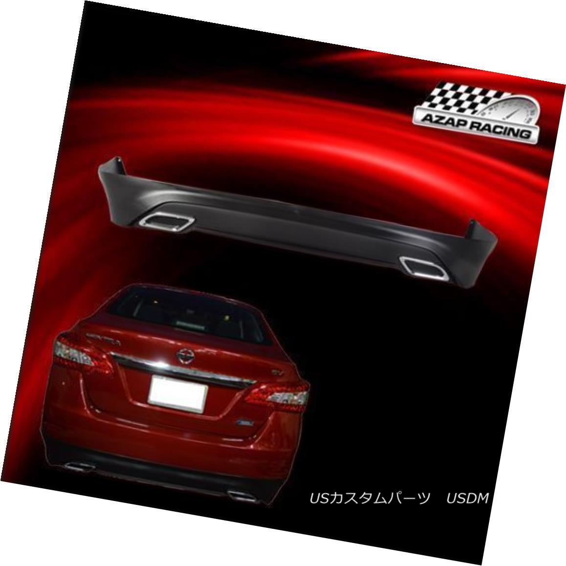 エアロパーツ Fits 2013-2017 Nissan Sentra Rear Bumper Lip Spoiler Bodykit OE Style PP 2013-2017 Nissan SentraリアバンパーリップスポイラーボディキットOEスタイルPPに適合