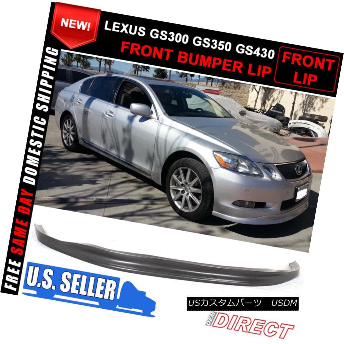 PU 06 07 Lexus GS300 GS350 GS430 TTE Style Front Bumper Lip