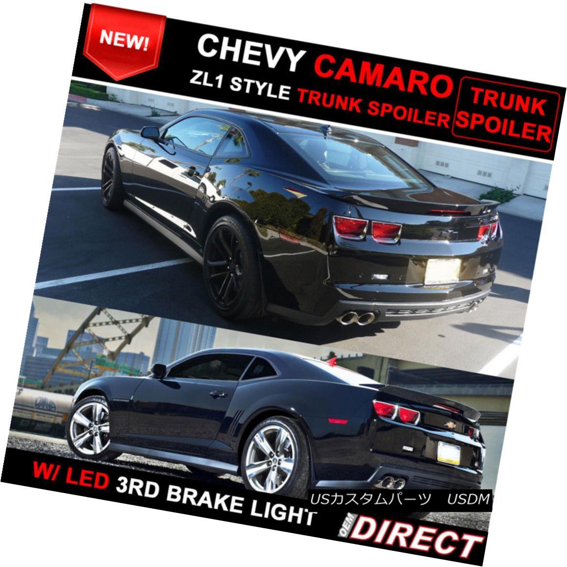 エアロパーツ 10-13 Chevy Camaro ZL1 Style Trunk Spoiler Painted Black WA8555 10-13シボレーカマロZL1スタイルのトランク・スポイラー・ペイント・ブラックWA8555