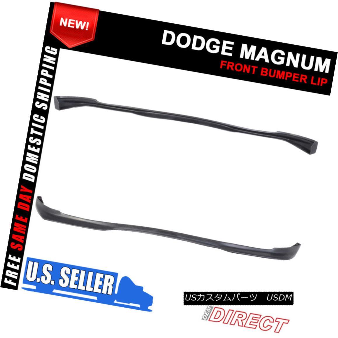 エアロパーツ For 05-08 Dodge Magnum RA Style Front Bumper Lip Spoiler PU 05-08ダッジマグナムRAスタイルフロントバンパーリップスポイラーPU