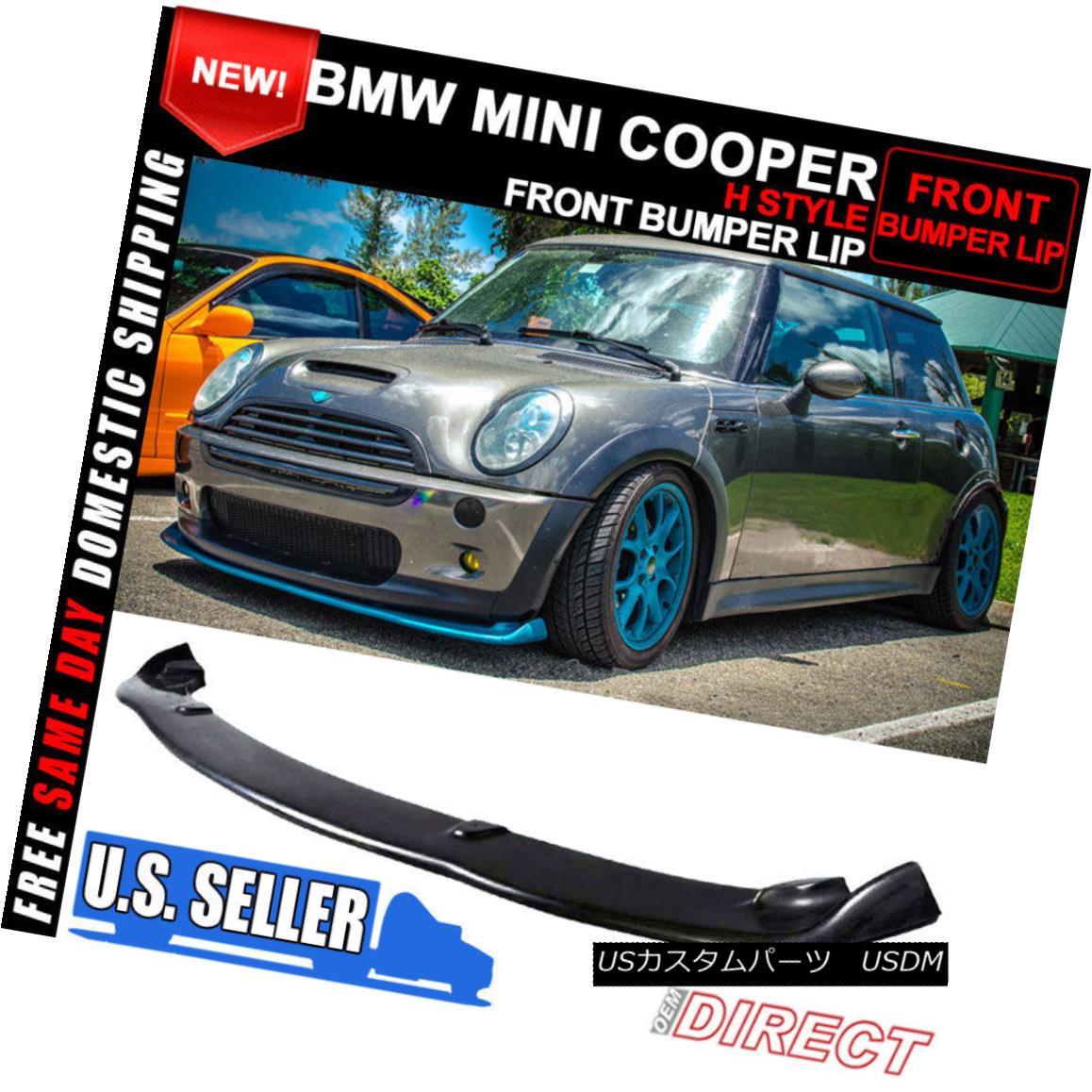 Urethane H Style Front Bumper Lip Spoiler Body Kit 02-06 Mini Cooper S 03 04 05