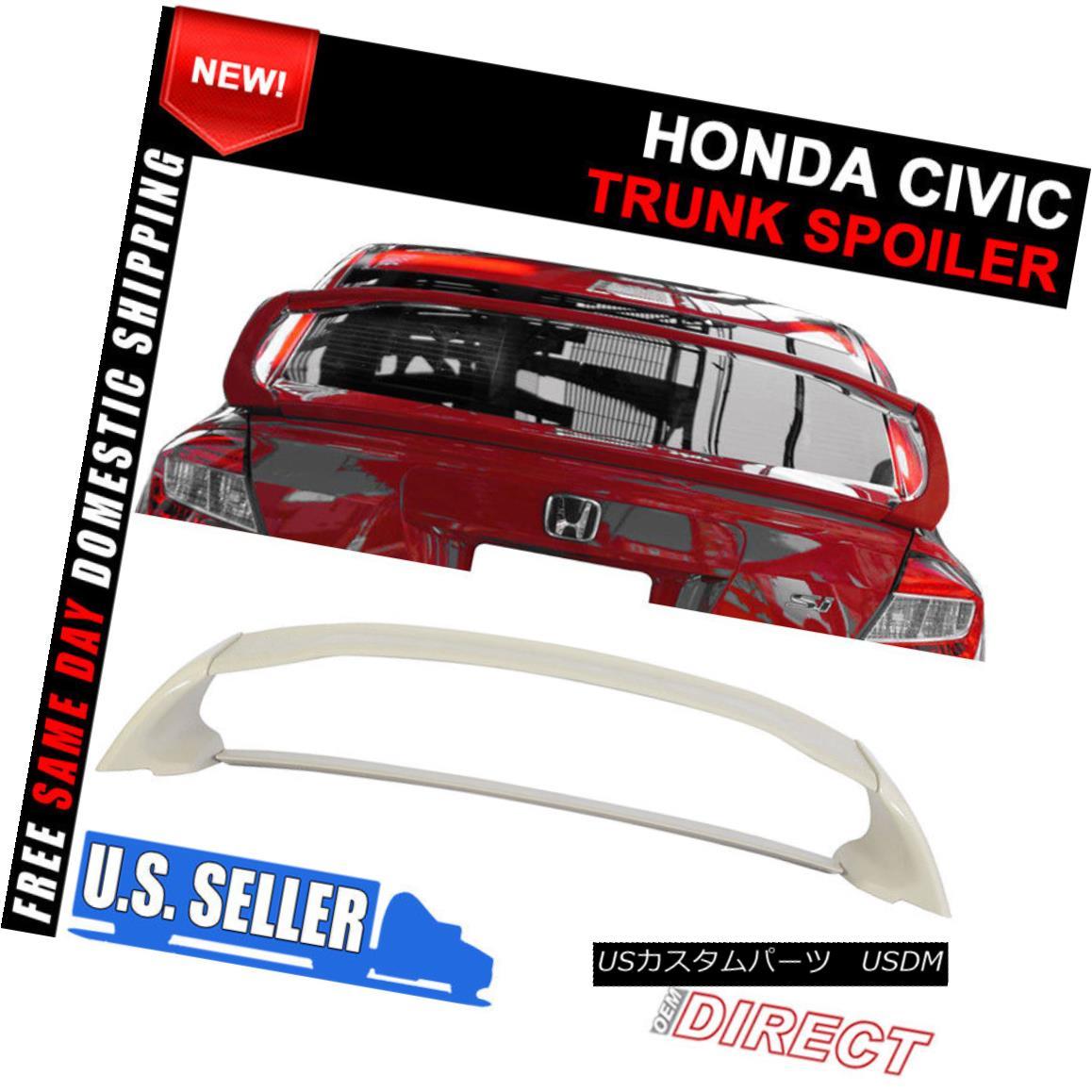 エアロパーツ 12-15 Honda Civic 4Dr RR Mugen 4Pc JDM Wing Style ABS Rear Trunk Spoiler 12-15ホンダシビック4Dr RRムゲン4Pc JDMウィングスタイルABSリアトランク・スポイラー
