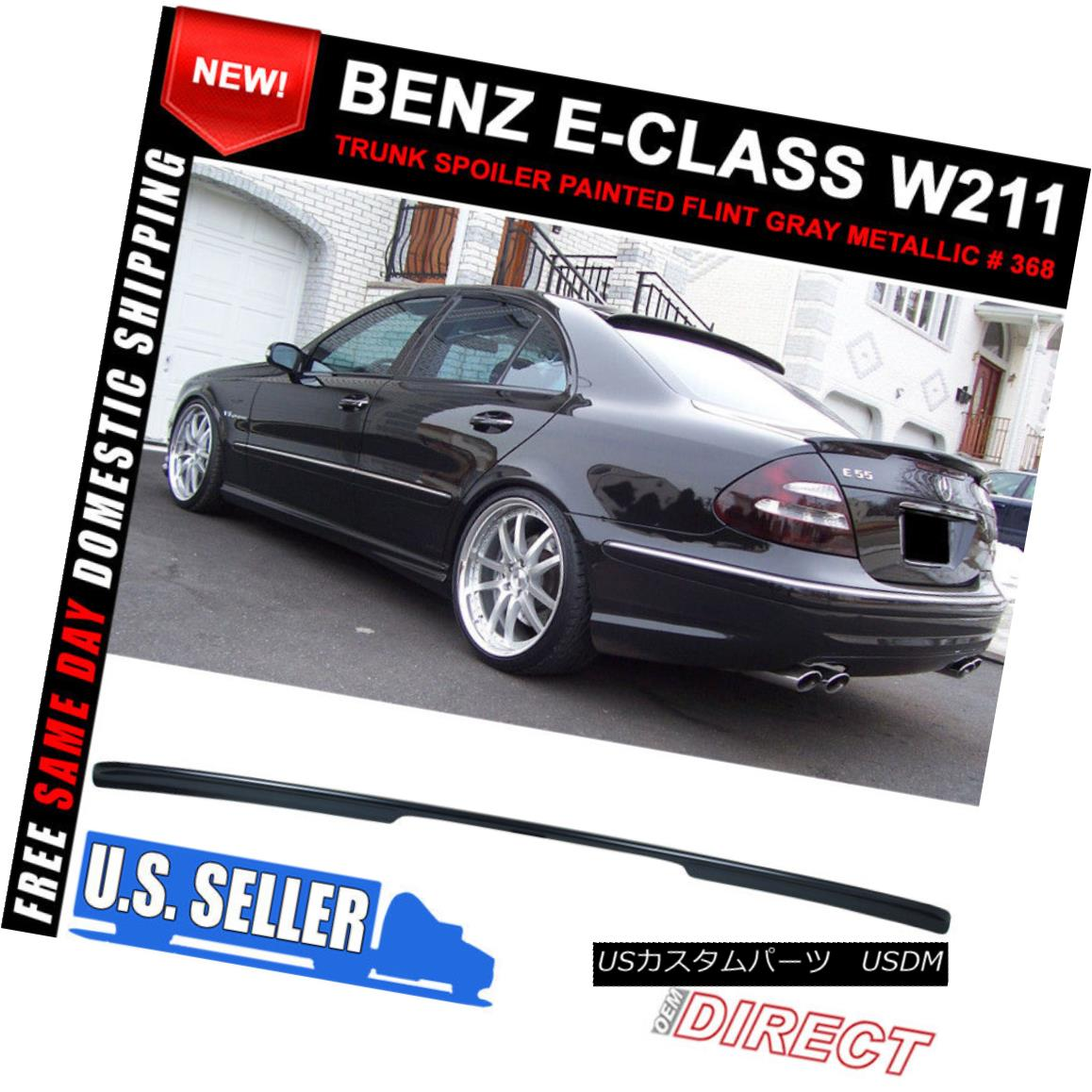 AMG type trunk spoiler ◎ Unpainted COMBO M-BENZ W203 C-class Sedan L type roof