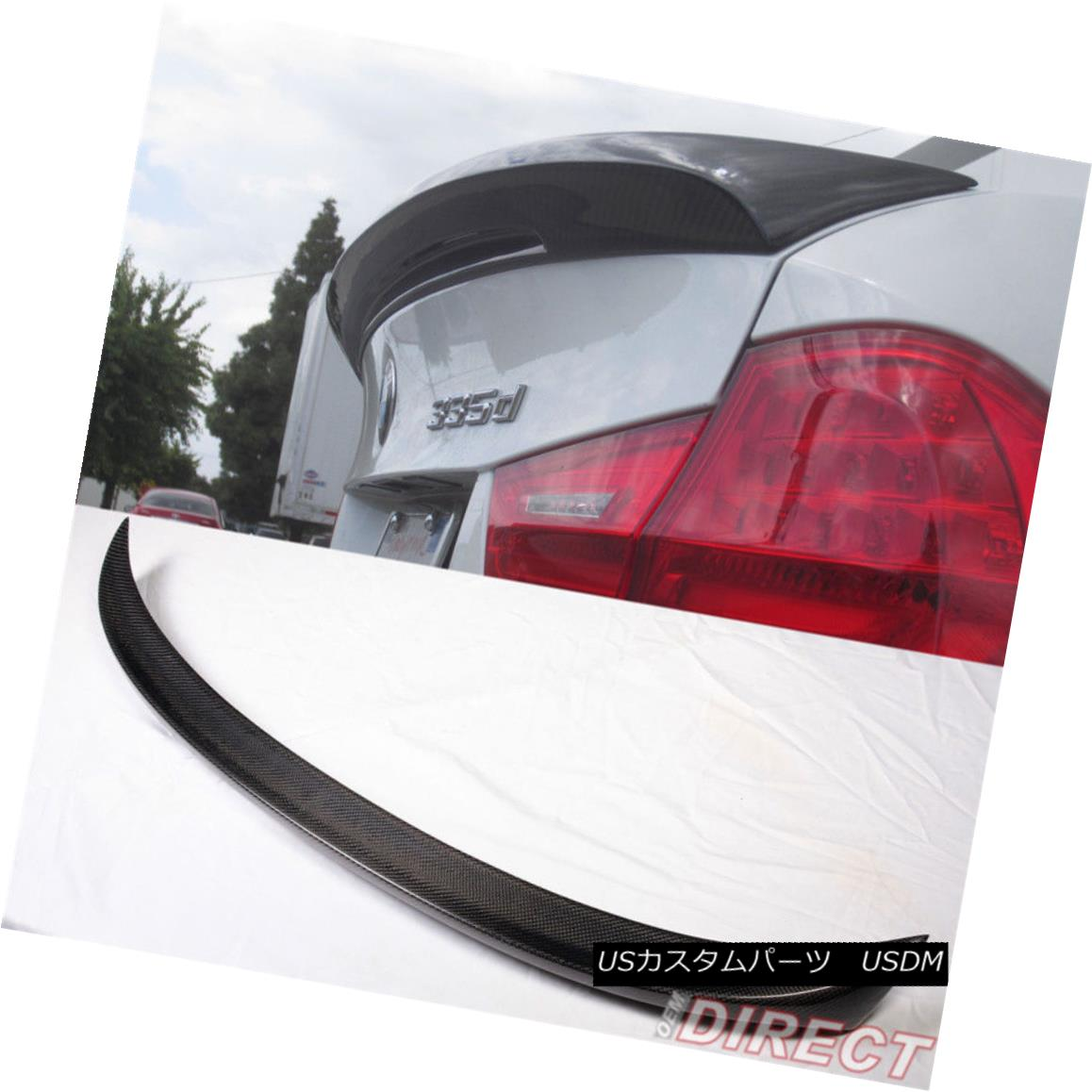 エアロパーツ 05-11 BMW E90 3-Series Sedan Mtech Msport Carbon Fiber Trunk Spoiler CF 05-11 BMW E90 3シリーズセダンMtech Msport炭素繊維トランク・スポイラーCF
