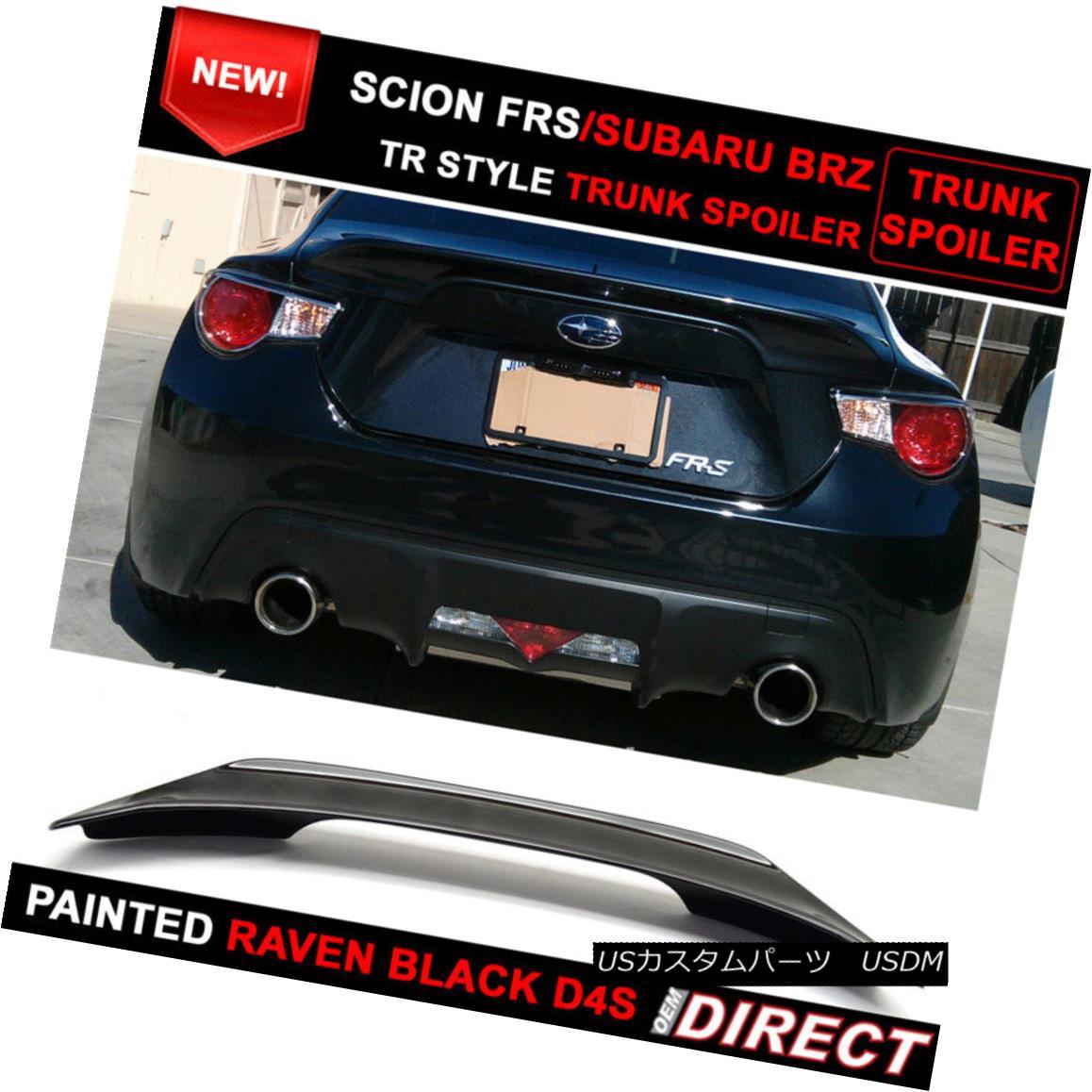エアロパーツ Fit For 13-17 OE Crystal Black #D4S Scion FRS Subaru BRZ Tr Trunk Spoiler フィット13-17 OEクリスタルブラック#D4SサイオンFRSスバルBRZ Trトランクスポイラー