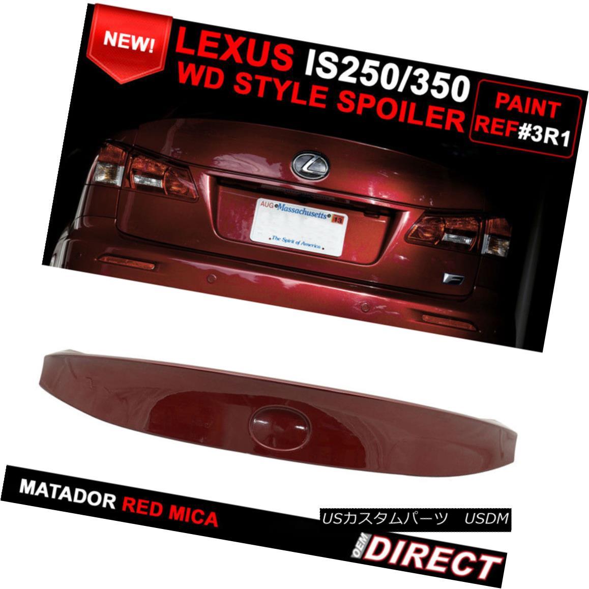 エアロパーツ For 06-13 Lexus Is250 350 IK Style Trunk Spoiler - Painted Matador Red Mica #3R1 06-13レクサスIs250 350 IKスタイルトランクスポイラー - ペイントマタドールレッドマイカ#3R1
