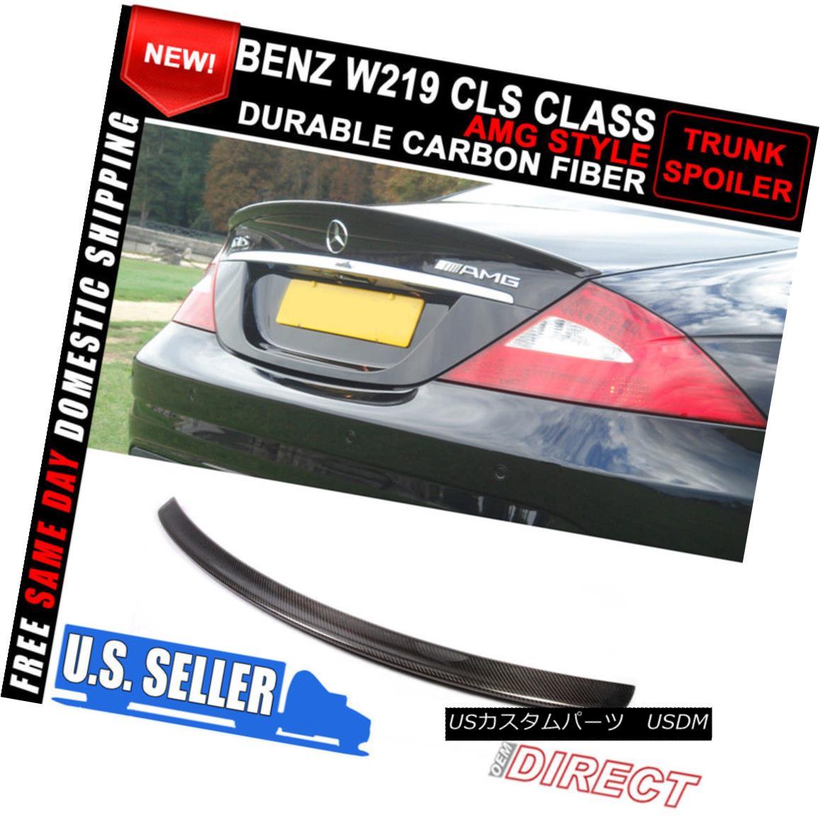 エアロパーツ 05-10 Benz CLS Class W219 Sedan AMG Carbon Fiber CF Trunk Spoiler 05-10ベンツCLSクラスW219セダンAMGカーボンファイバーCFトランク・スポイラー