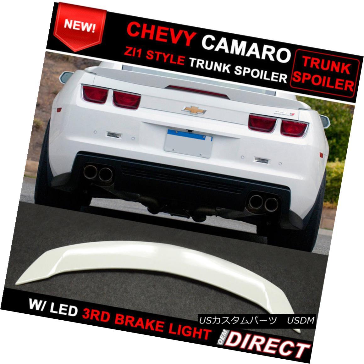 エアロパーツ 10-13 Chevrolet Camaro ZL1 Style Trunk Spoiler Painted Summit White Wa8624 10-13シボレーカマロZL1スタイルトランクスポイラーペイントサミットホワイトWa8624