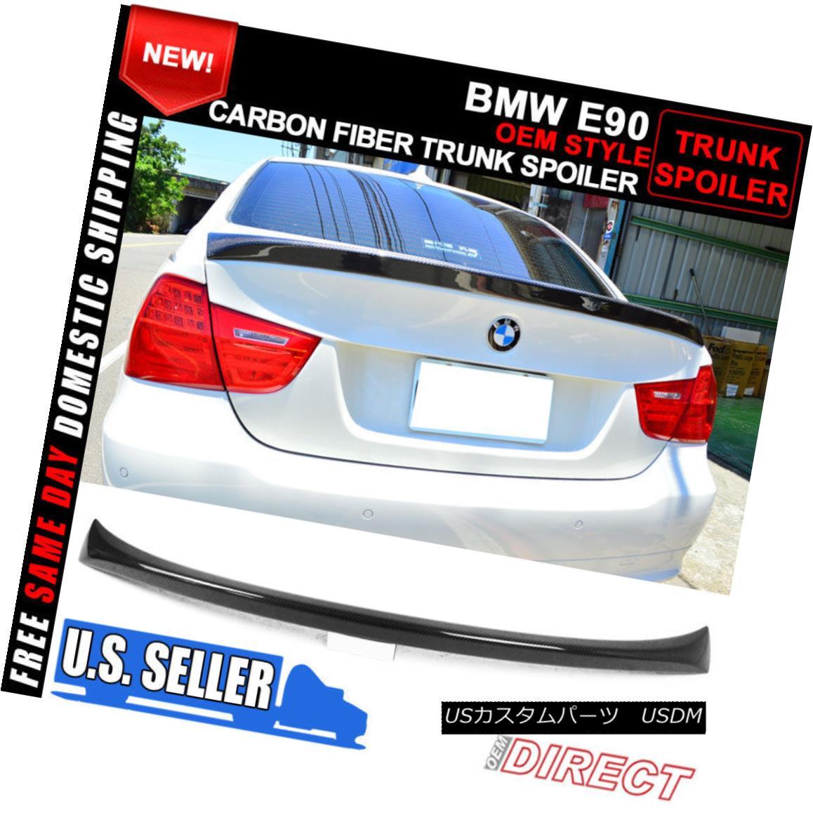 エアロパーツ 06-11 BMW E90 3 Series 4Dr 4Door CF Carbon Fiber OE Style Trunk Spoiler 06-11 BMW E90 3シリーズ4Dr 4Door CFカーボンファイバーOEスタイルトランク・スポイラー