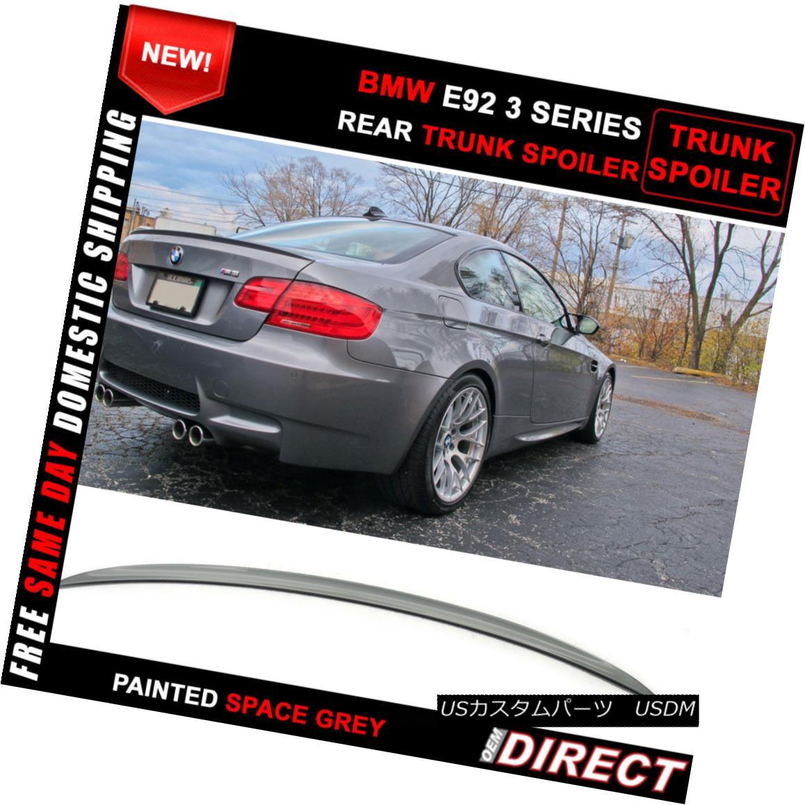 エアロパーツ 07-13 BMW E92 Coupe M3 Style Color Code #A52 Painted ABS Trunk Spoiler 07-13 BMW E92クーペM3スタイルカラーコード#A52塗装ABSトランク・スポイラー