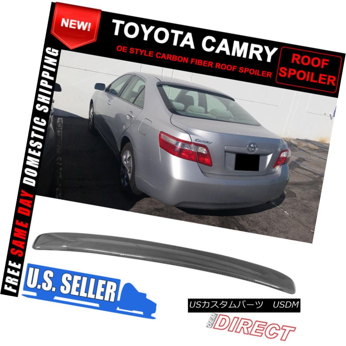エアロパーツ 07-11 Toyota Camry Sedan Carbon Fiber OE Style Roof Spoiler 07-11トヨタカムリセダンカーボンファイバーOEスタイルルーフスポイラー