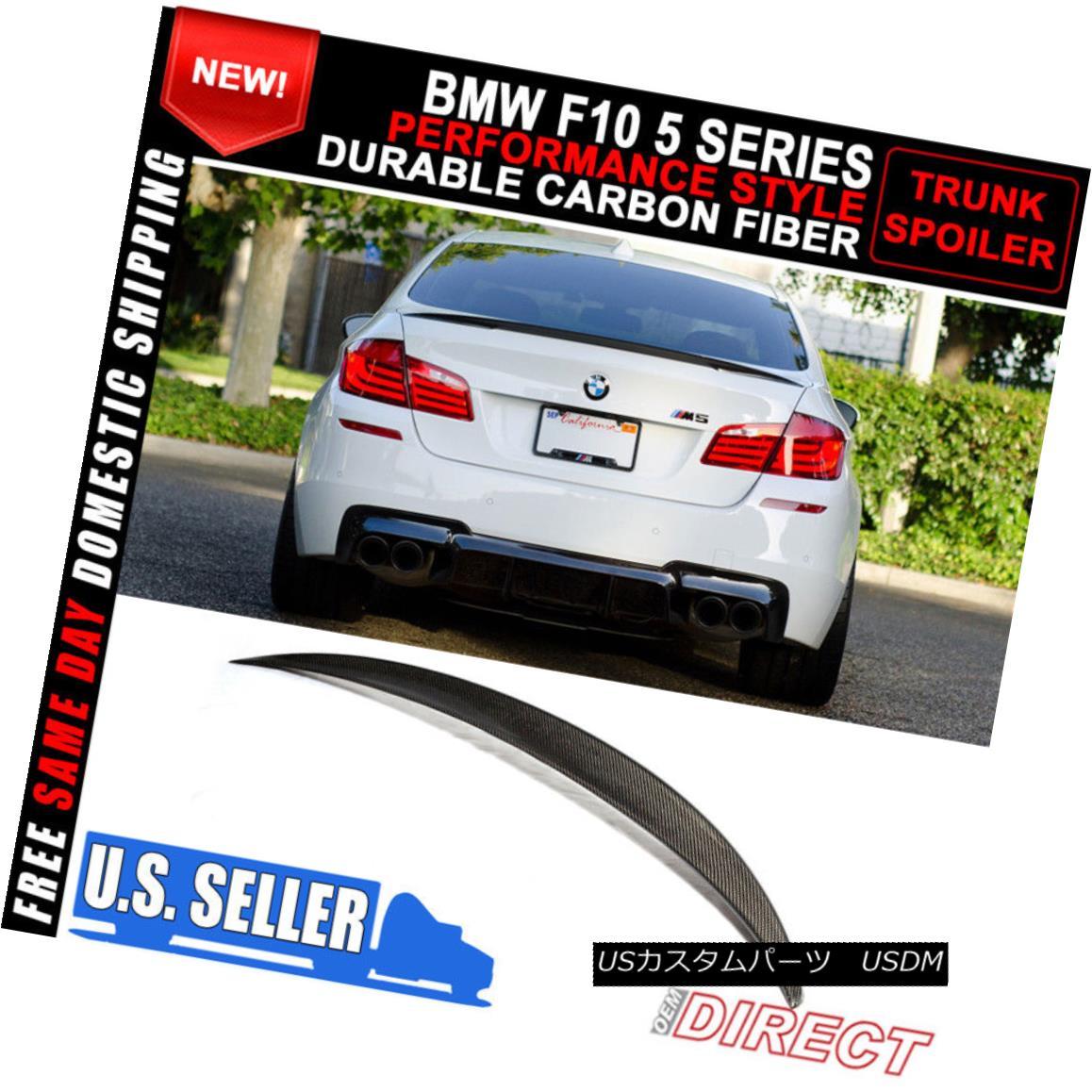 エアロパーツ 11-16 BMW 5 Series F10 Sedan P Style Carbon Fiber CF Trunk Spoiler 11-16 BMW 5シリーズF10セダンPスタイル炭素繊維CFトランク・スポイラー