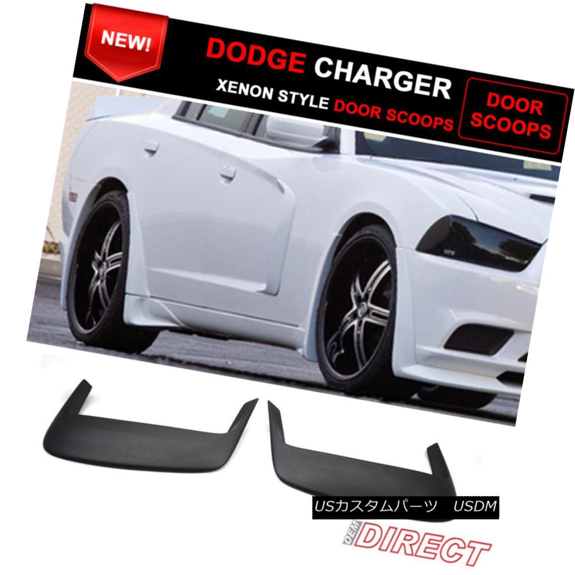 エアロパーツ For 11-15 Dodge Charger EXcept Srt8 Model 2 Piece X Style Door Scoops Unpainted 11-15ダッジチャージャーは除くSrt8モデル2ピースXスタイルドアスクープ未塗装