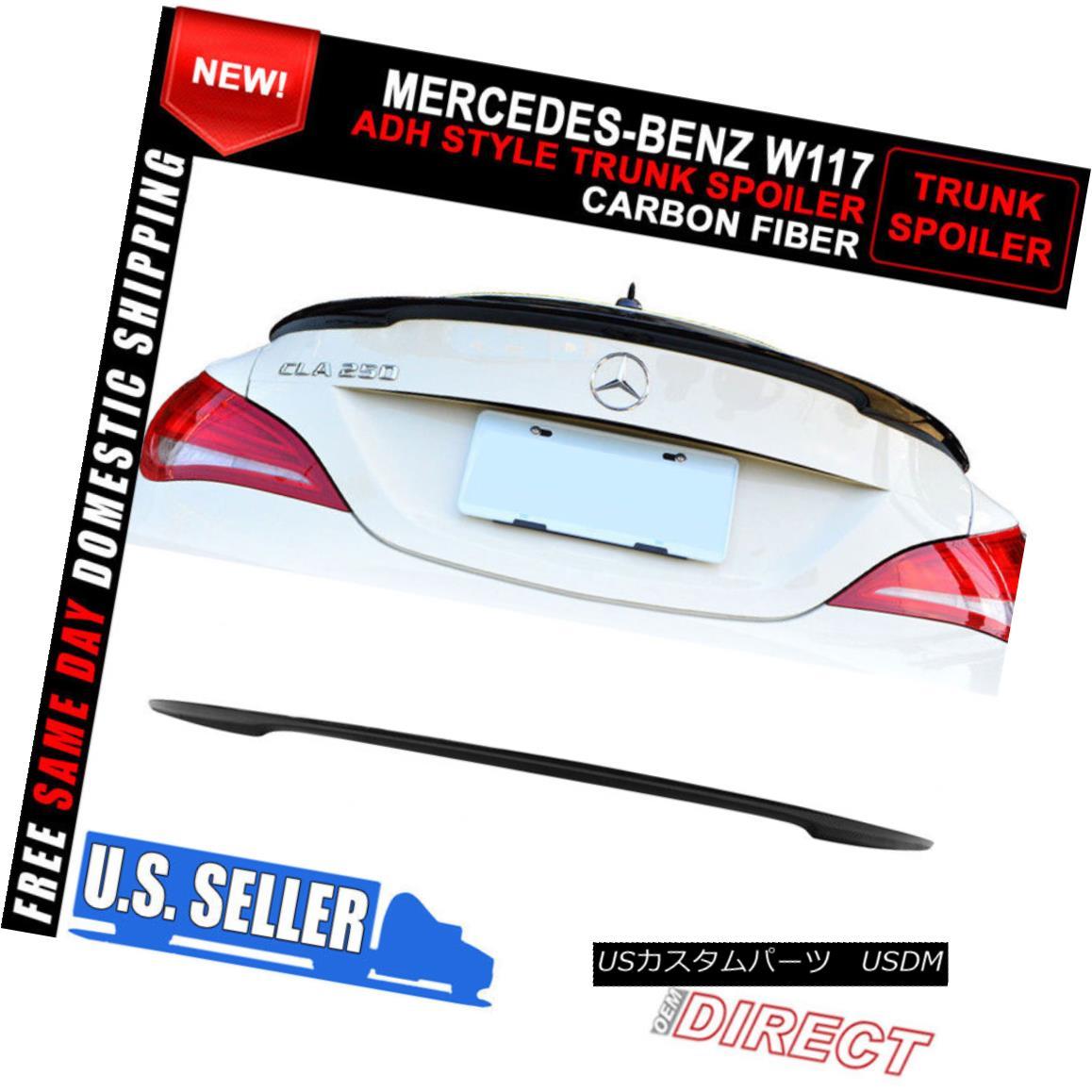 エアロパーツ 13-18 Benz CLA W117 Sedan ADH Style Carbon Fiber CF Trunk Spoiler 13-18ベンツCLA W117セダンADHスタイル炭素繊維CFトランク・スポイラー