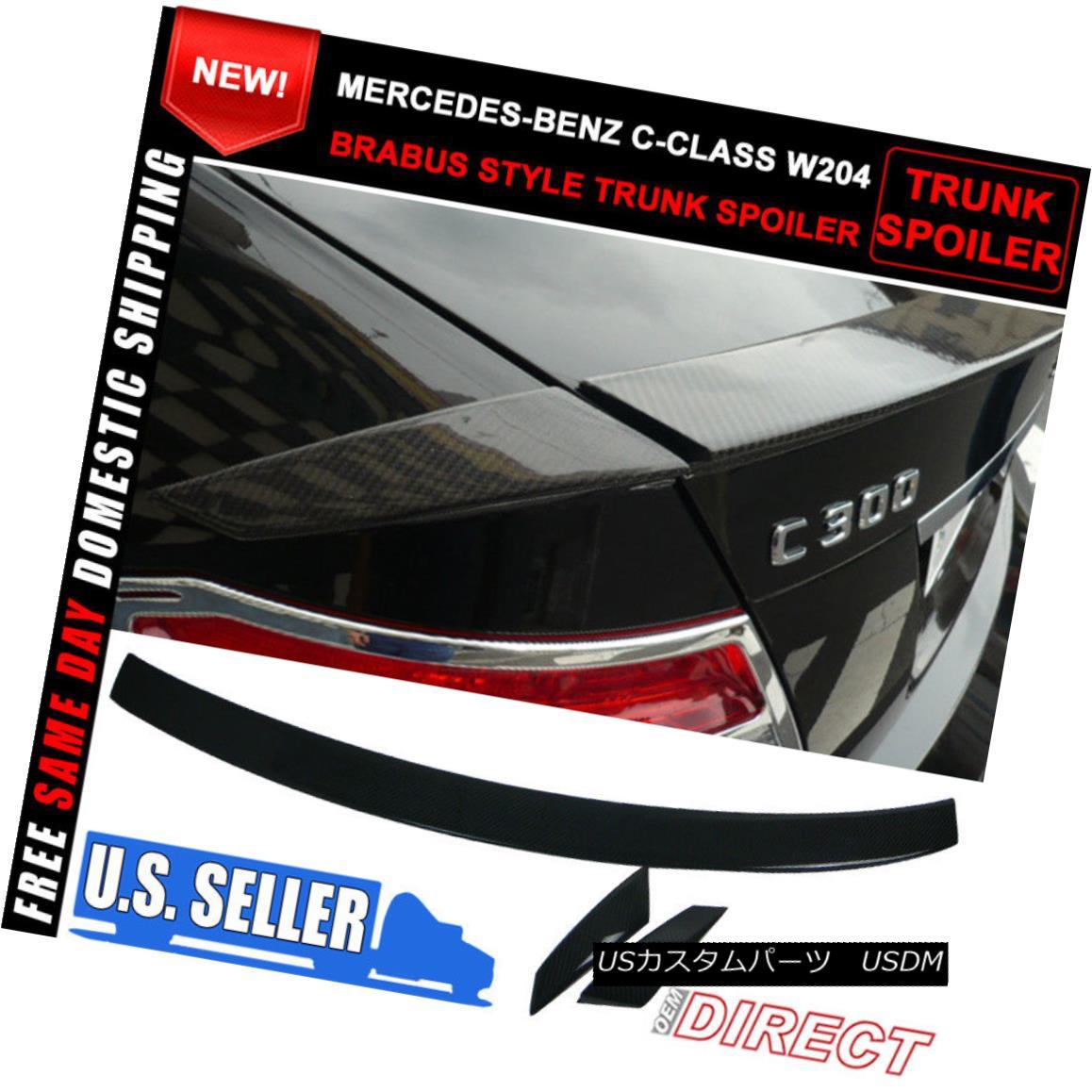 エアロパーツ Fit For 08-14 C-Class W204 B Style Trunk Spoiler Wing - Carbon Fiber (CF) 08-14 CクラスW204 Bスタイルトランク・スポイラー・ウィング用炭素繊維(CF)
