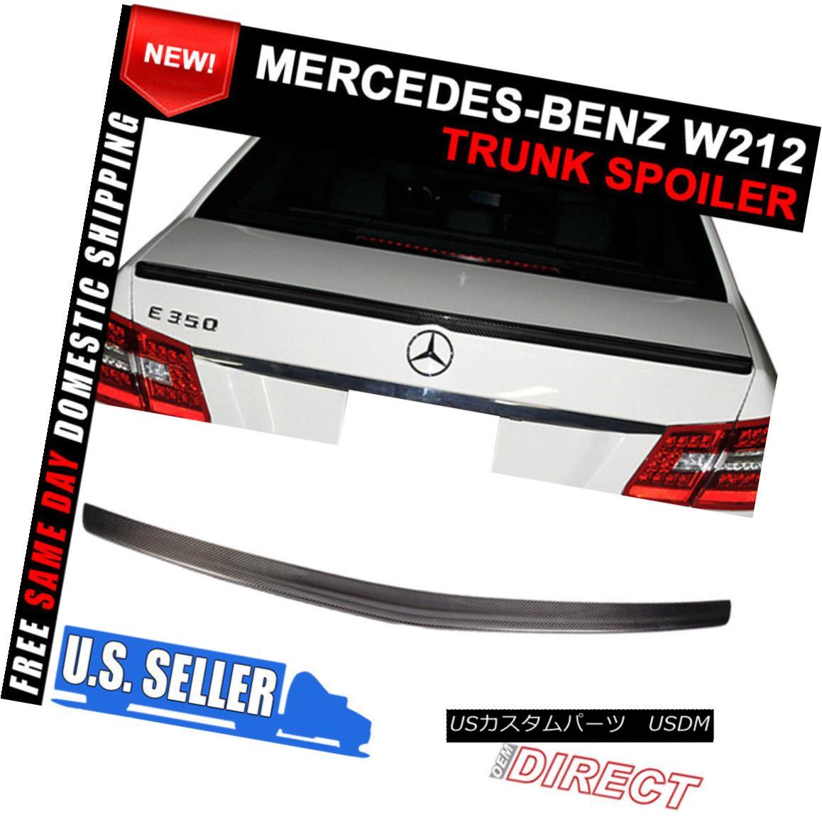 エアロパーツ 10-16 Benz E-Class W212 Sedan Rear Trunk Spoiler Wing Carbon Fiber CF 10-16ベンツEクラスW212セダンリアトランクスポイラーウィングカーボンファイバーCF