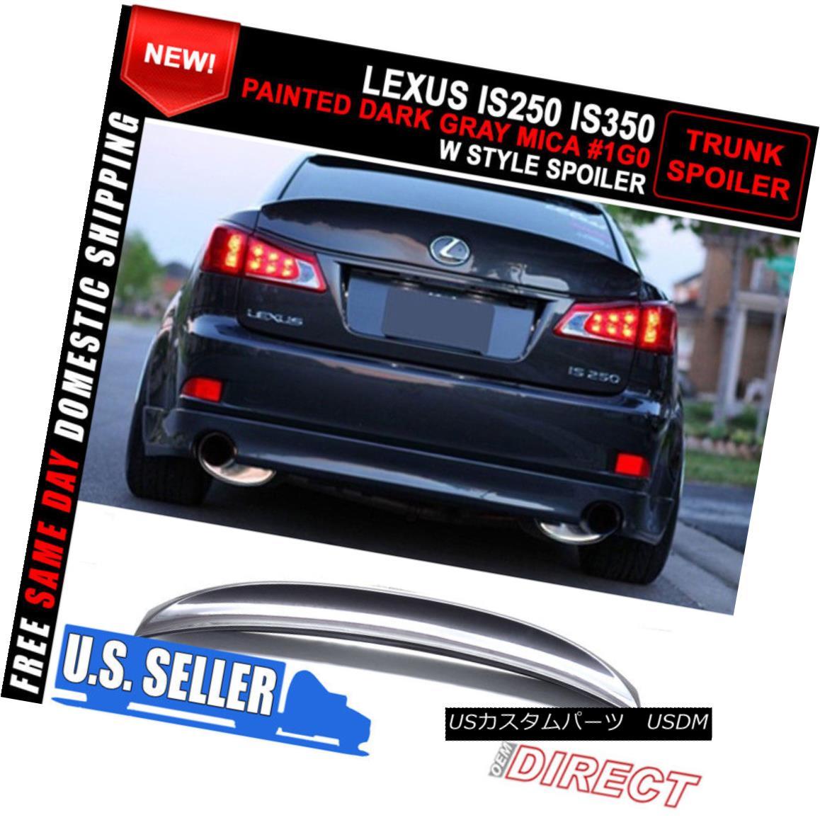 エアロパーツ For 06-13 Lexus Is250 Is350 IK Style Trunk Spoiler - Painted Dark Gray Mica #1G0 06-13レクサスIs250 Is350 IKスタイルトランク・スポイラー - 塗装ダークグレー・マイカ#1G0