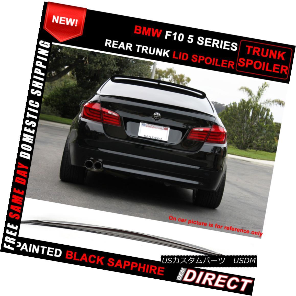 エアロパーツ Fit For 11-16 BMW 5-Series F10 Sedan M5 Style #475 Painted Trunk Spoiler 11-16 BMW 5シリーズF10セダンM5スタイル#475塗装トランク・スポイラー