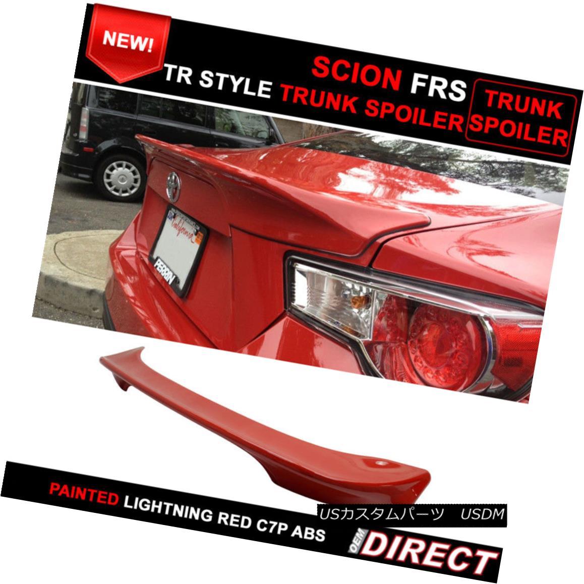 エアロパーツ Fits 13-15 Lightning Red Firestorm #C7P Scion FRS Subaru BRZ Tr Trunk Spoiler Fight 13-15 Light Red Firestorm#C7P Scion FRSスバルBRZ Trトランク・スポイラー