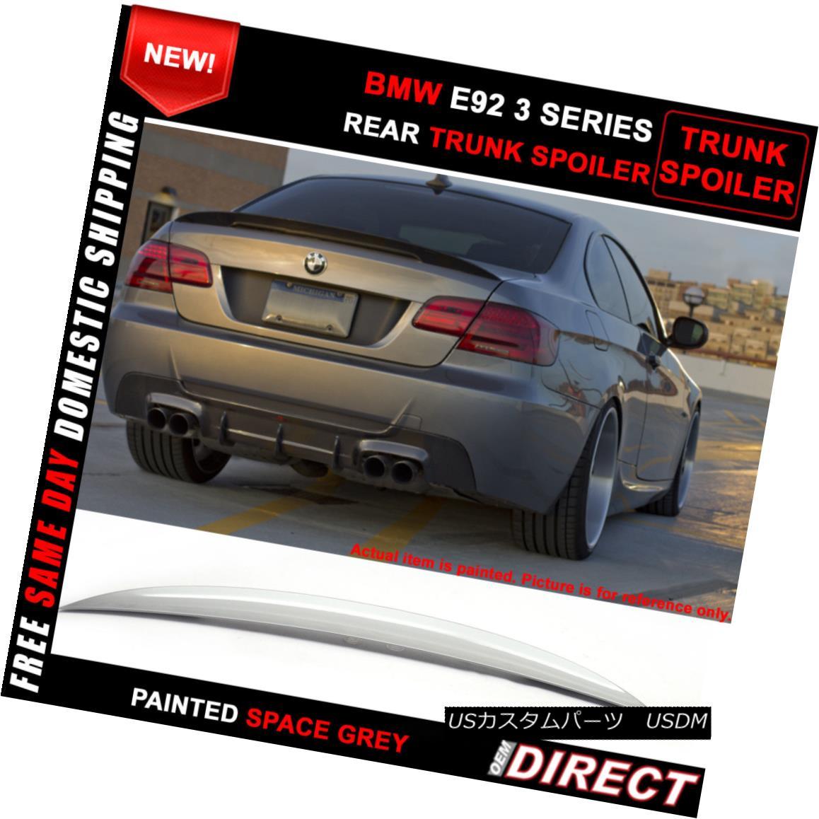 エアロパーツ 07-13 BMW E92 Coupe P Style Color Code #A52 Paint ABS Trunk Spoiler 07-13 BMW E92クーペPスタイルカラーコード#A52ペイントABSトランク・スポイラー