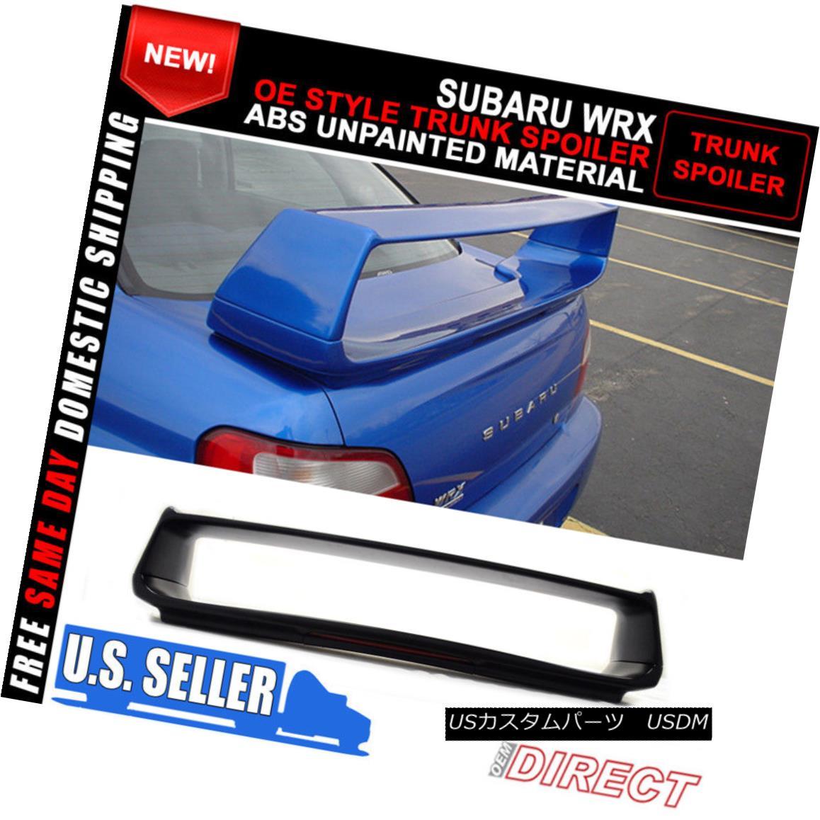 エアロパーツ Fits 02-07 Subaru Impreza WRX STI OE Style Trunk Spoiler With 3rd Brake Light フィット02-07スバルインプレッサWRX STI OEスタイルのトランク・スポイラー