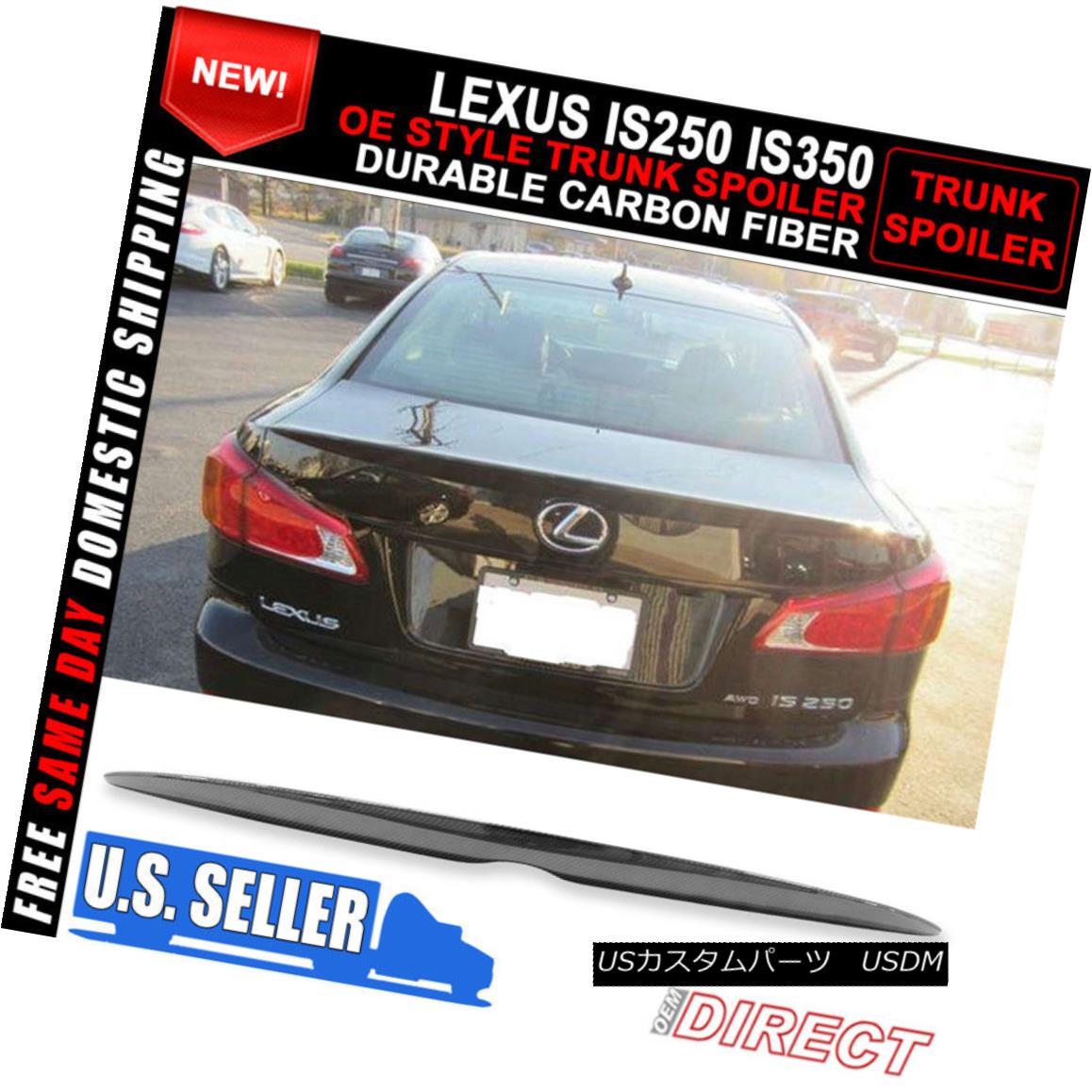 エアロパーツ For 06-13 Lexus Is250 Is350 4Dr OE Style Carbon Fiber CF Trunk Spoiler 06-13レクサスIs250 Is350 4Dr OEスタイルカーボンファイバーCFトランク・スポイラー
