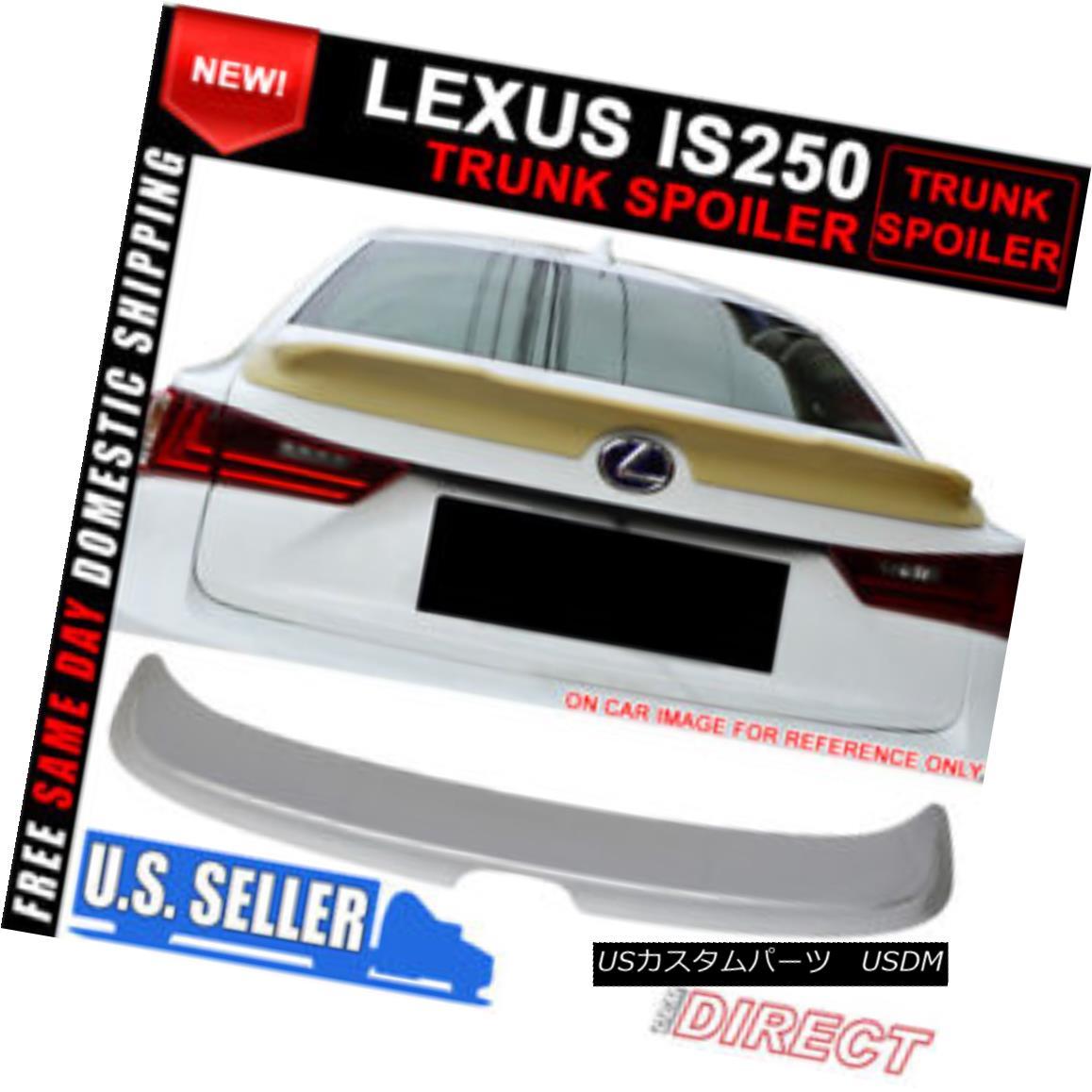 エアロパーツ For 14-16 Lexus IS IS250 TRD Trunk Spoiler Painted Platinum Silver Metallic ABS 14?16レクサスIS IS250 TRDトランクスポイラー塗装プラチナシルバーメタリックABS