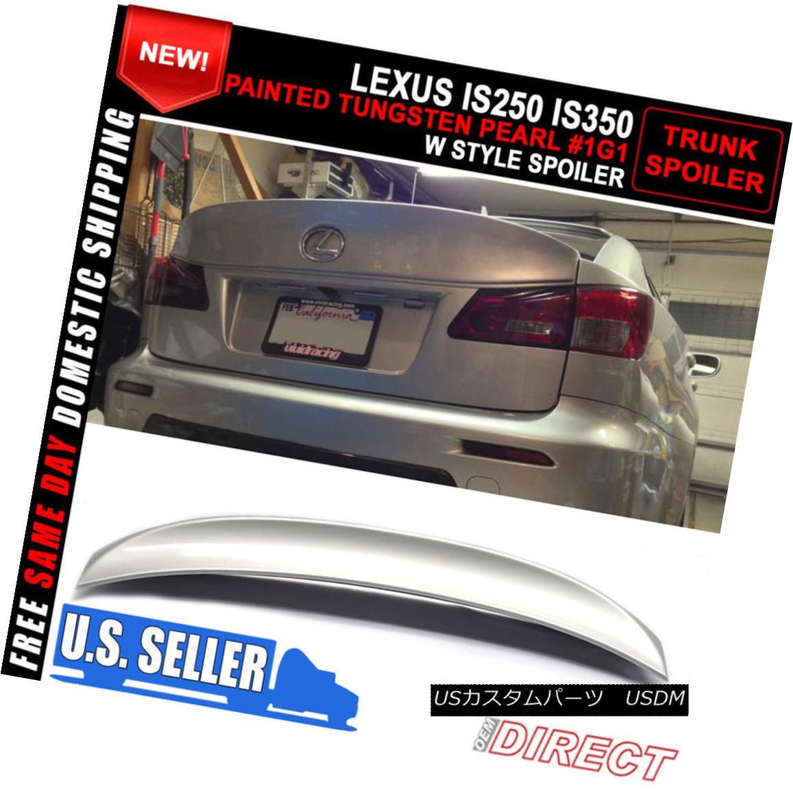 エアロパーツ For 06-13 Lexus Is250 Is350 IK Style Trunk Spoiler - Painted Tungsten Pearl #1G1 06-13レクサスIs250 Is350 IKスタイルトランク・スポイラー - ペイント・タングステン・パール#1G1